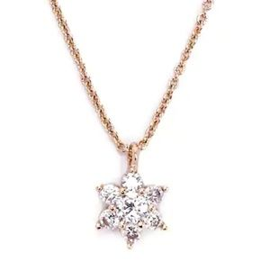 Jewelry - Cubic Zirconia Flower Pendant Necklace